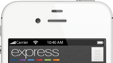 PPS Express smartphone view